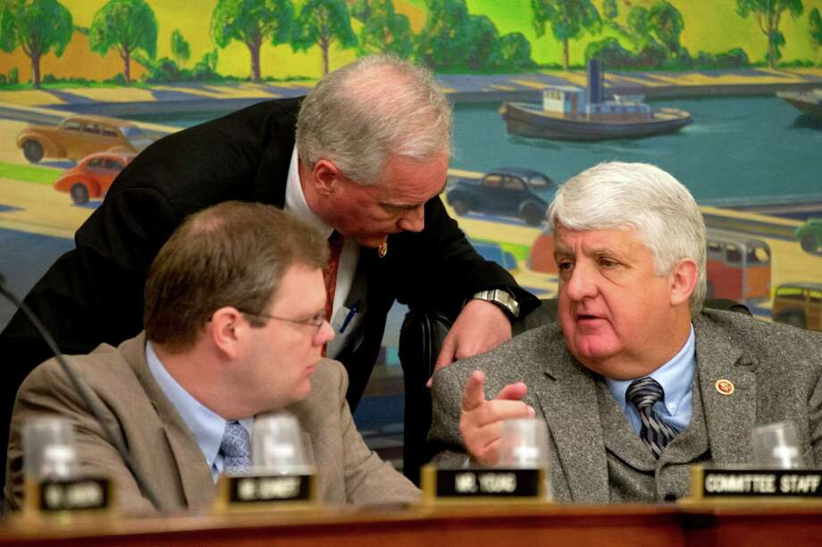 Rep. Rob Bishop, R-Utah, (right) sees the chairmanship of the House Natural Resources Committee as a chance to shake up the way the United States manages federal and Indian lands, from protecting treasured areas to permitting drilling in others. He's shown here at a 2013 subcommitte hearing. Photo: Associated Press File Photo / AP2013