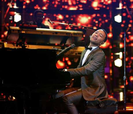 John Legend performs during the Houston Livestock Show and Rodeo at NRG Park, Friday, March 6, 2015, in Houston.