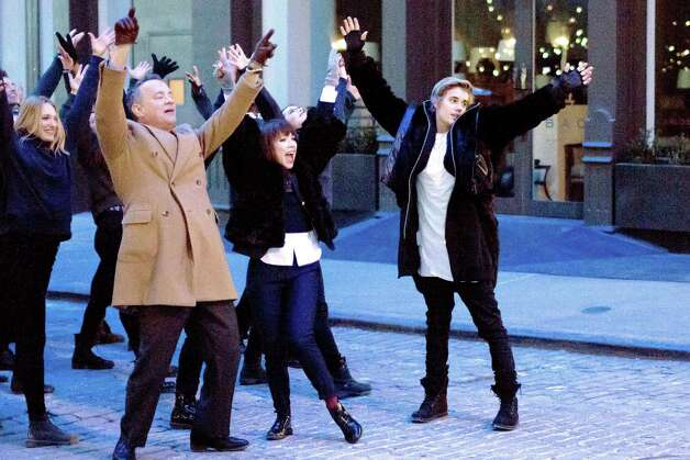 Tom Hanks, Carly Rae Jepson, Justin Bieber | Photo Credits: Vevo / © Corbis.  All Rights Reserved.