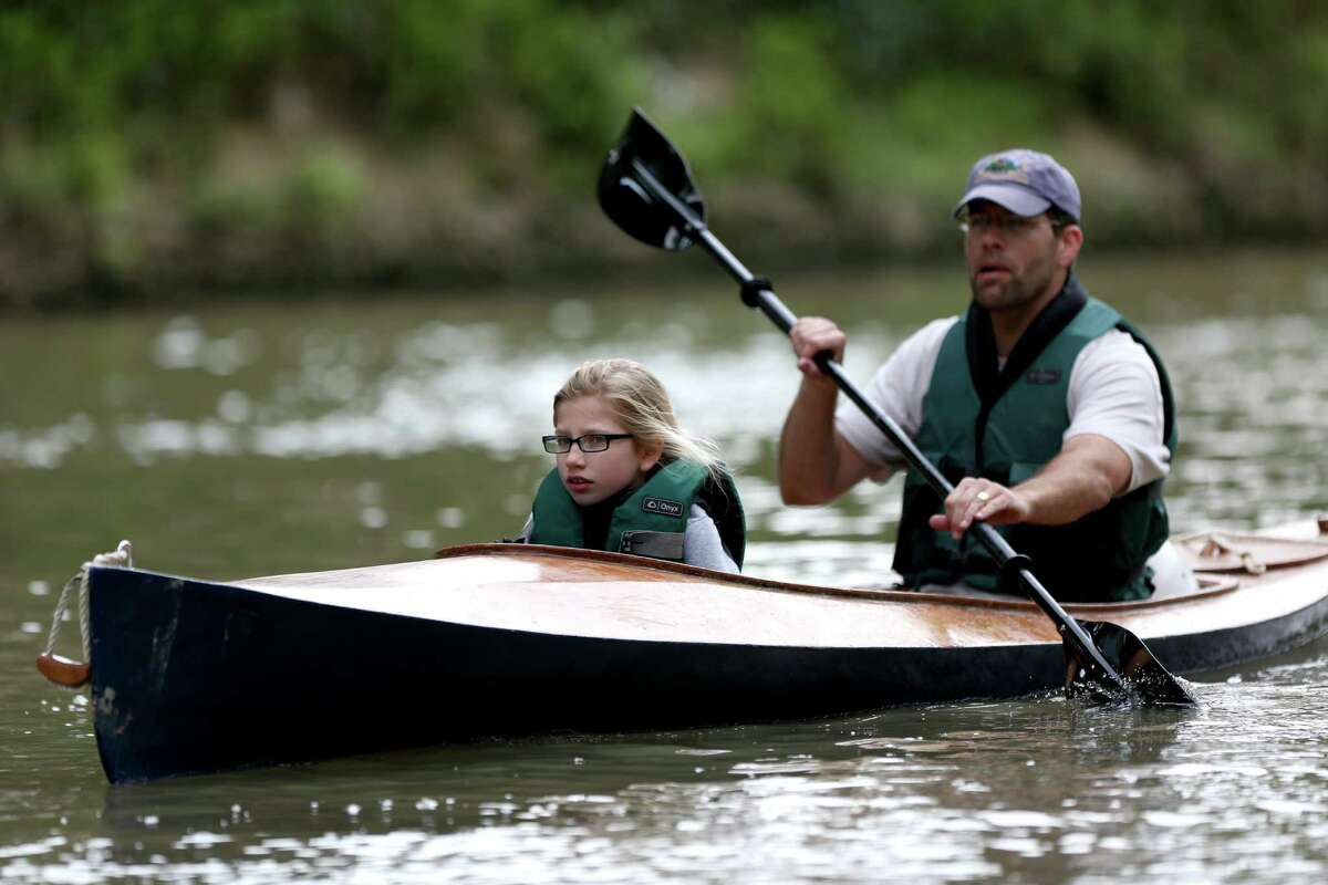 The 43rd Annual Buffalo Bayou Regatta, a 15-mile American Canoe Association (ACA) sanctioned race, along the scenic Buffalo Bayou Saturday, March 7, 2015, in Houston, Texas.