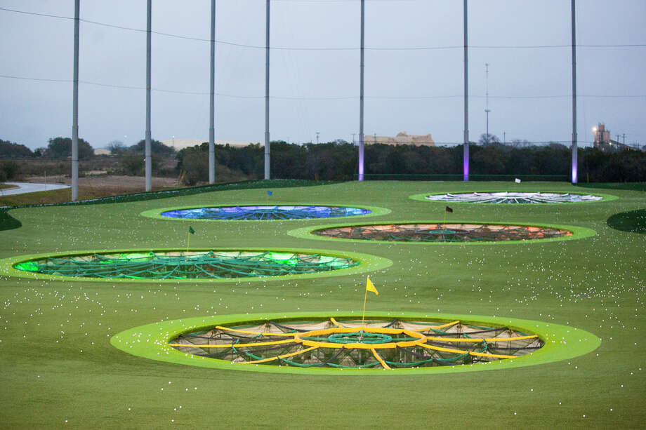 A shot of some of the playing targerts at TopGolf at The Rim shopping center in February 2015. TopGolf is being billed as a new type of golf entertainment for all demographics. Photo: Julysa Sosa /For The Express-News / Julysa Sosa For the San Antonio Express-News
