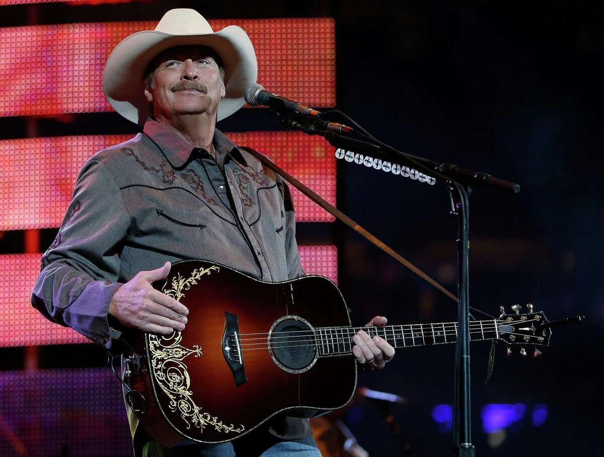 Alan Jackson performs during the Houston Livestock Show and Rodeo at NRG Park, Saturday, March 7, 2015, in Houston.