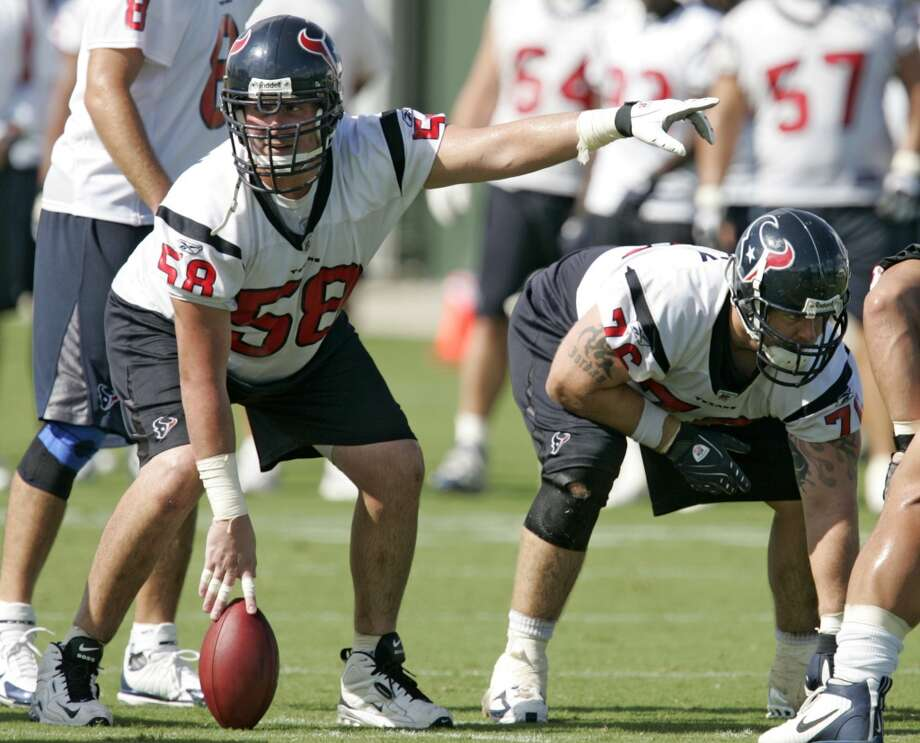 No. 5 worst:  Mike Flanagan, center,  2006-07  Note: At the end of the road after playing 10 years with the Packers. Photo: Brett Coomer, Houston Chronicle