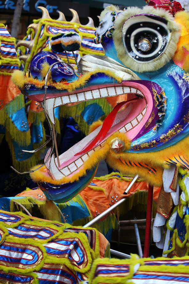 One of the dragons in the Chinese New Year Parade in San Francisco, Calif., Saturday March 7, 2015. Photo: Sophia Germer, The Chronicle