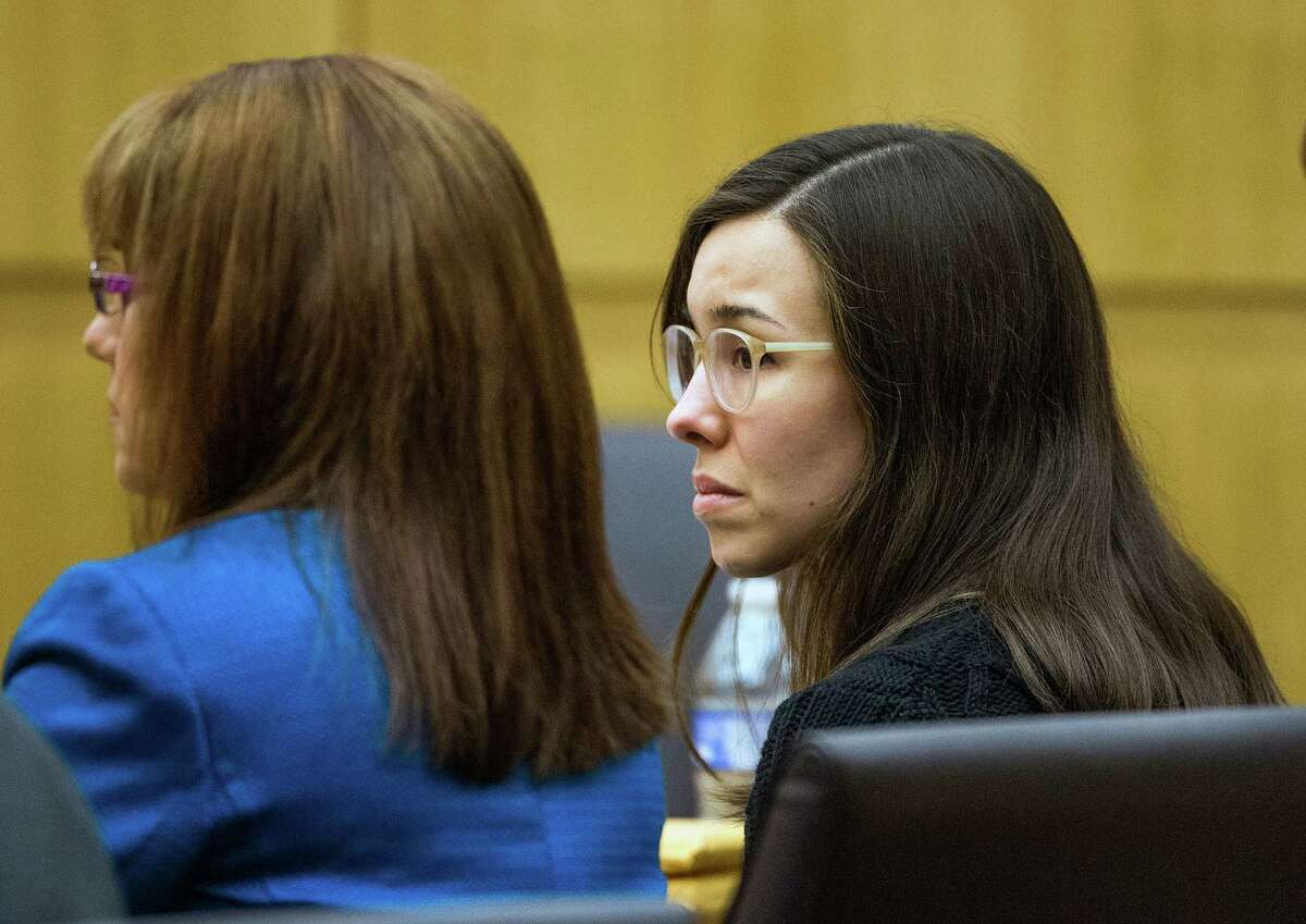 Jodi Arias, right, listens during her sentencing retrial, Thursday, March 5, 2015, in Maricopa County Superior Court in Phoenix. Arias was spared the death penalty on Thursday after a jury for a second time could not decide on her punishment.