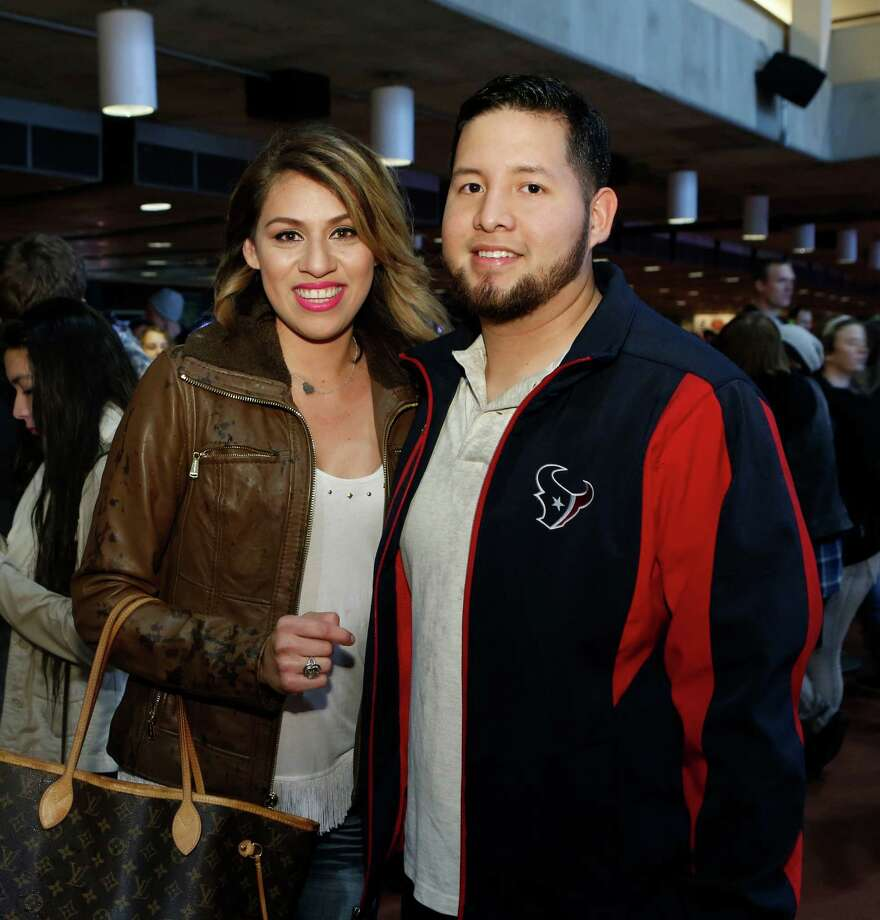 Guests pose for a photo before the Fall Out Boy concert at the Houston Livestock Show and Rodeo Sunday, March 8, 2015, in Houston. Photo: Jon Shapley, Houston Chronicle / © 2015 Houston Chronicle