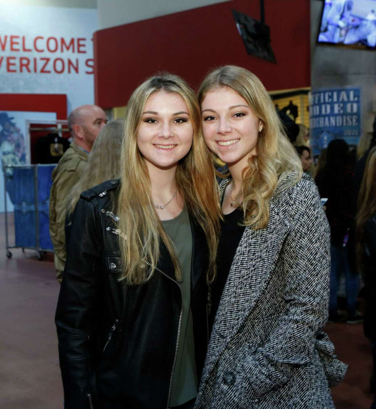 Guests pose for a photo before the Fall Out Boy concert at the Houston Livestock Show and Rodeo Sunday, March 8, 2015, in Houston.