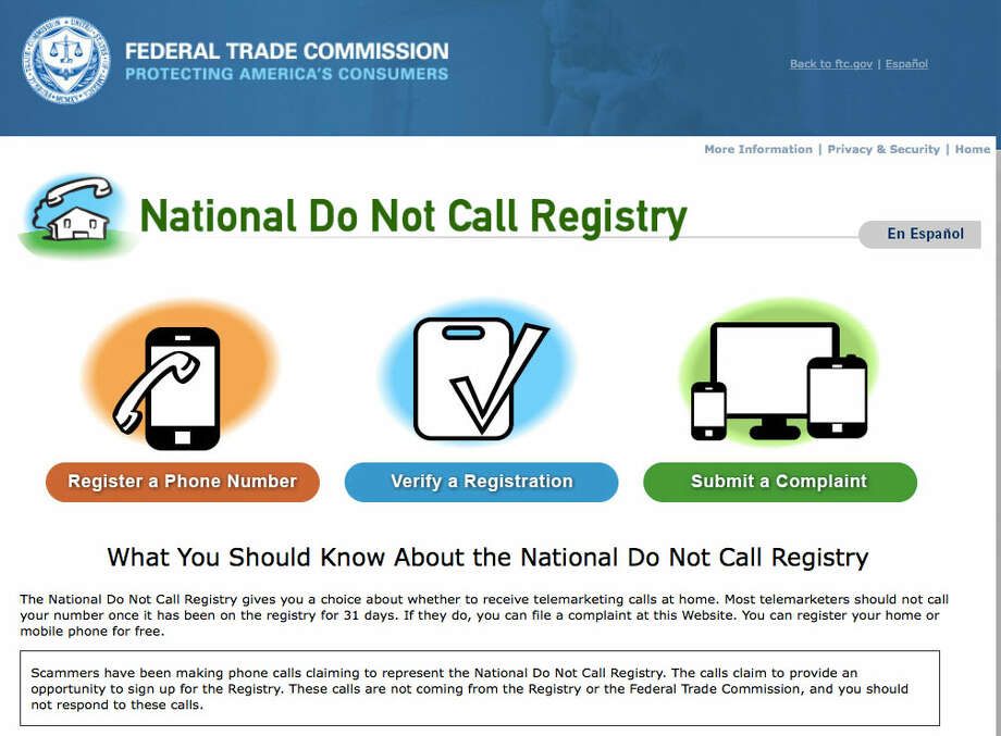 The Do Not Call list is effective in preventing calls from legitimate companies, but does not protect us from these criminals. Photo: Https://www.donotcall.gov