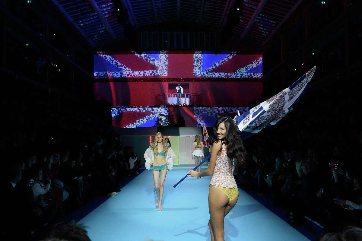 A general view at The ETAM show as part of the Paris Fashion Week Womenswear Fall/Winter 2015/2016 at Piscine Molitor on March 3, 2015 in Paris, France.