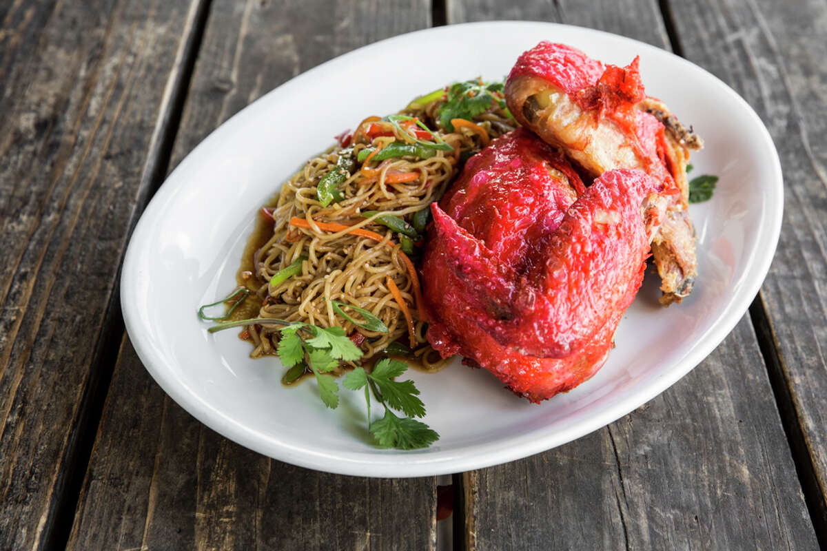 James Beard award-winning chef Chris Shepherd is adding family-style dishes to the menu at Hay Merchant. Char Siu Chicken ($46) is a whole marinated chicken served with noodles, steamed buns and soy cured egg. Serves 2-3 people.