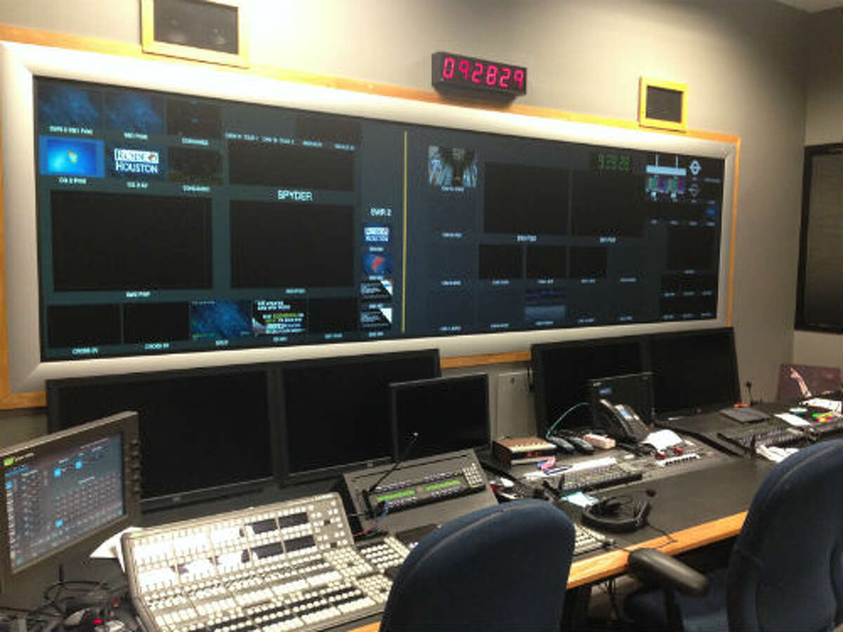 This is the main control room that produces all of the content that fans see on the big screens inside NRG Stadium during the rodeo. During performances this room takes on a war room feel.