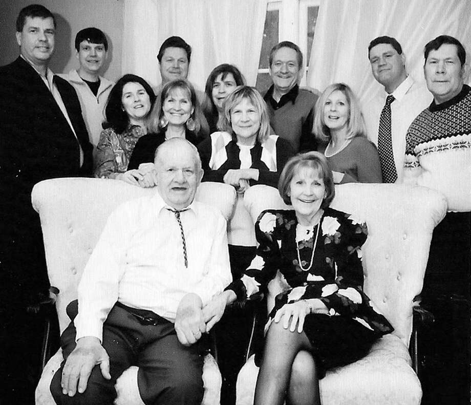 Happy anniversary!  Sixty-seven years of marriage and a loving family later, Carl and Mable McBreairty of New Milford happily get together with 11 children for their anniversary celebration in February 2015. Joining their parents for the special occasion are, from left to right, middle row, Deedra Bakish of Ridgefield, Gloria Riendeau of Bridgewater, Carla Coolbeth of Kent and Debbie Coolbeth of New Milford, and back row, Mark McBreairty of Greenwich, Carl McBreairty of New Milford, Mike McBreairty of New Milford, Pamela Fox of New Milford, Elbridge McBreairty of Dummerston, Vermont, Myron McBreairty of New Milford and Gary McBreairty of New Milford. February 2015    Courtesy of the McBreairty family Photo: Contributed Photo, Norm Cummings / The News-Times