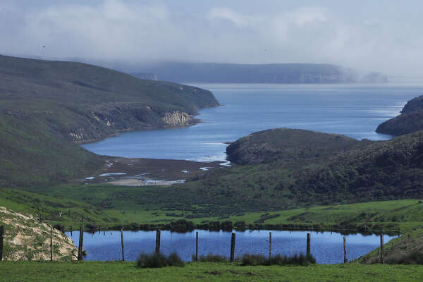 A view of Drakes Estero seen from Sir Francis Drake Boulevard near Point Reyes North Beach in Point Reyes, Calif. Saturday, February 21, 2015.