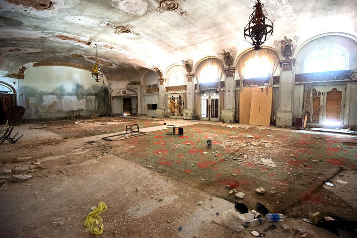 The Baker Hotel lobby is pictured here in 2014. A development team working towards a $56 million renovation project of the old hotel.