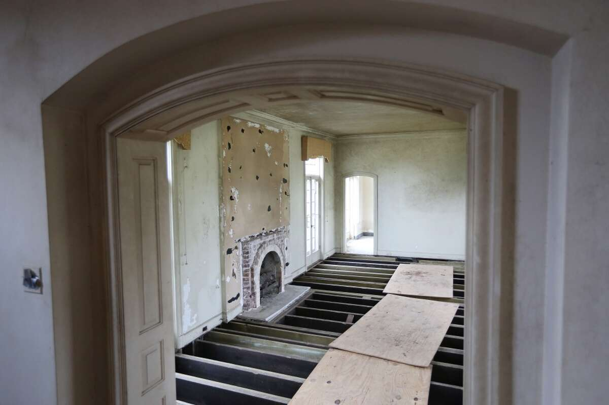The living room area is cleared out and most of the Weingarten mansion in Riverside Terrace is ready for renovations.