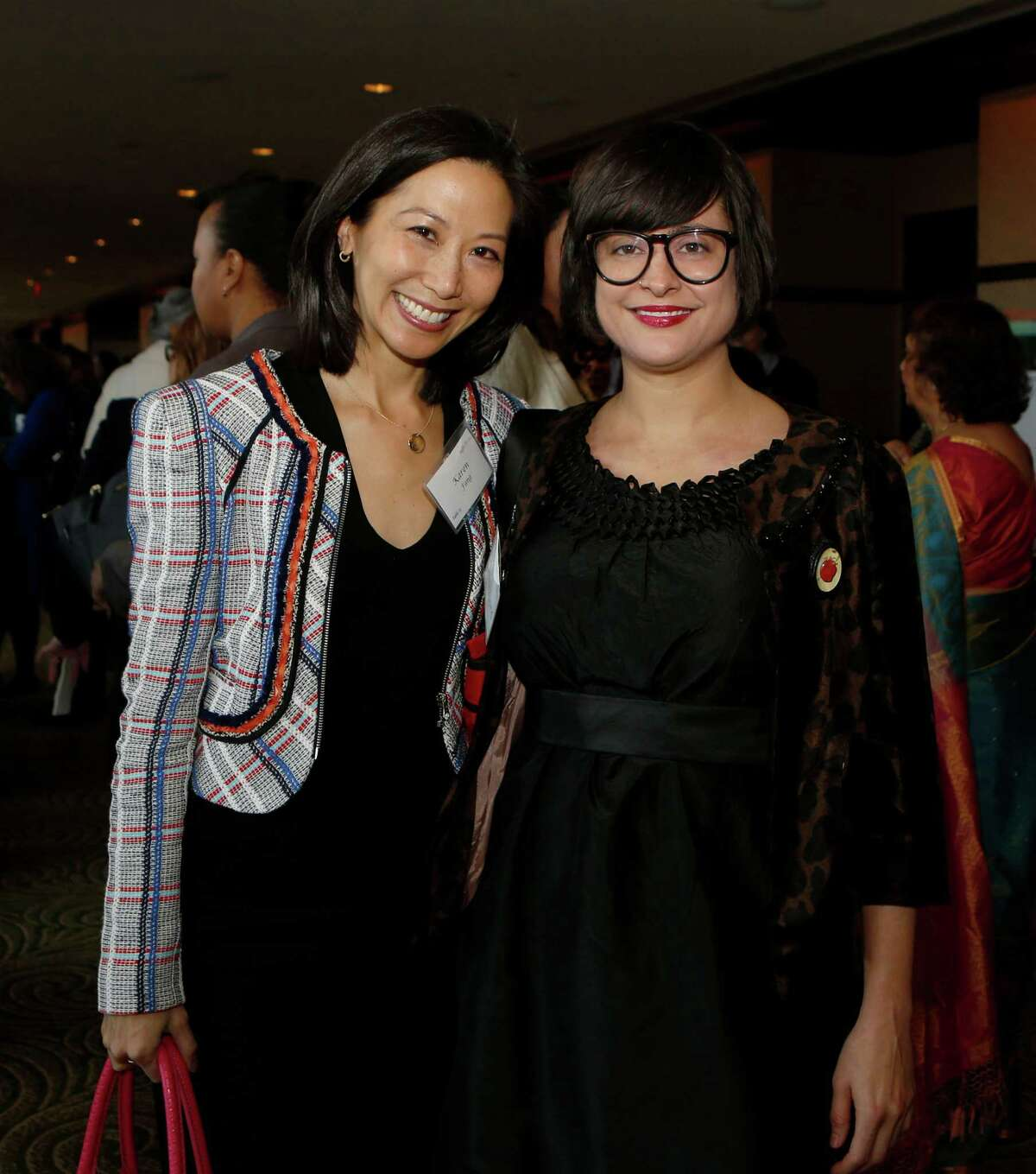 Karen Fang and Sarah Luna at the 18th annual Table Talk event at the Hilton America's Hotel.