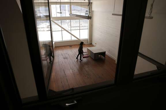 Michelle Mansour executive director of Root Division, on the ground floor of their newly acquired 13,000 square foot space at 1131 Mission St.in San Francisco, Ca. as seen on Fri. March 6, 2015. Root Division is a visual arts non-profit that connects creativity and community through a dynamic ecosystem of arts education, exhibitions, and studios.