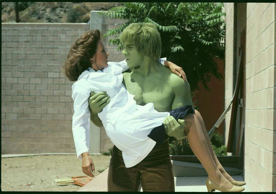 """Lou Ferrigno in action as """"The Incredible Hulk"""" in a 1981 episode of the series about the Marvel Comics character that aired between 1978 and 1982. Photo: CBS Photo Archive / CBS Via Getty Images / 1981 CBS Photo Archive"""