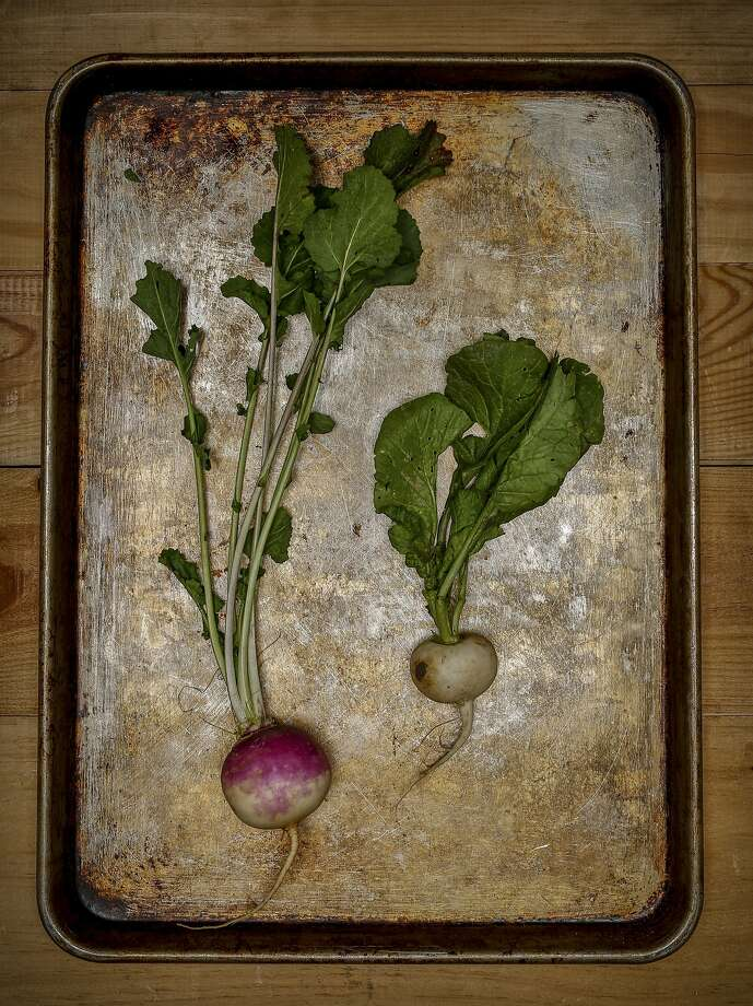 Purple top (left) and Tokyo turnips. Photo: Russell Yip, The Chronicle