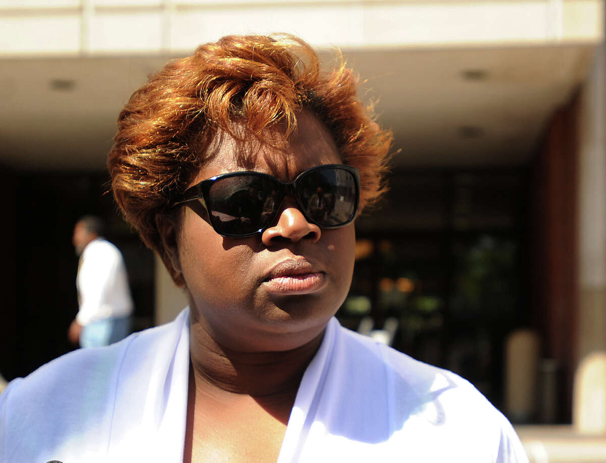 Corrinna Martin, mother of Alyssiah Marie Wiley, outside a court hearing for Jermaine Richards in Bridgeport, Conn. on Thursday, June 20, 2013. After five days of deliberation the jury told state Superior Court Judge John Kavanewsky Friday, March 6, 2015 they were deadlocked six to six on the murder charge against Richards.