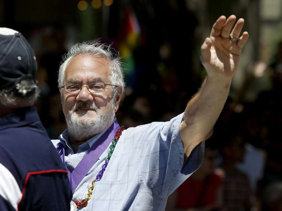 Barney Frank was one of the featured guests in the annual Gay Pride parade on Market Street in San Francisco in 2014. Photo: Brant Ward, Brant Ward/The Chronicle
