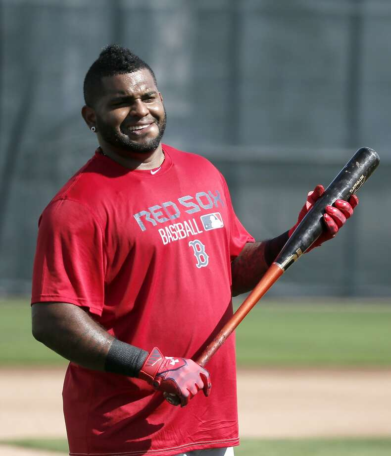 Boston Red Sox's Pablo Sandoval prepares to take batting practice at baseball spring training in Fort Myers Fla., Monday Feb. 23, 2015. (AP Photo/Tony Gutierrez) Photo: Tony Gutierrez, Associated Press