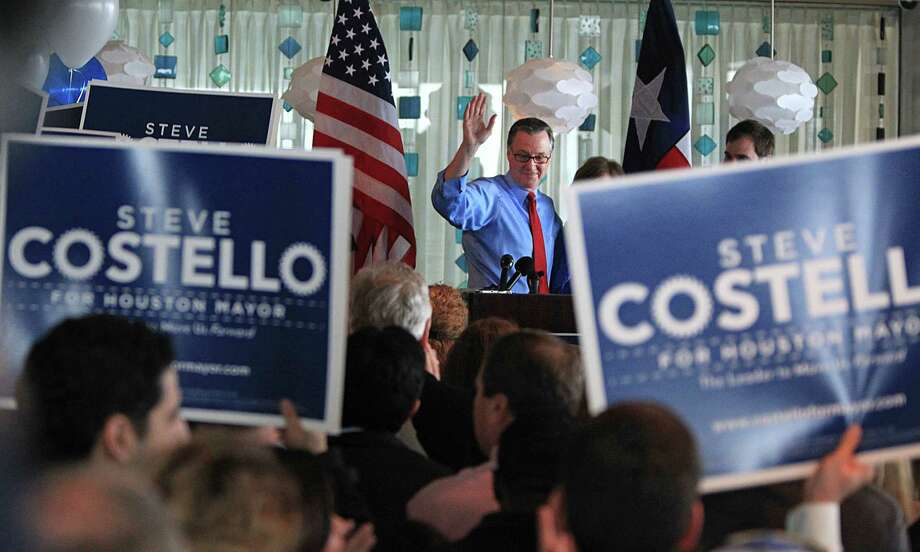 City Councilman Stephen Costello announced his mayoral candidacy before an enthusiastic crowd Monday at the Hilton Americas Houston Hotel. Photo: James Nielsen, Staff / © 2015  Houston Chronicle