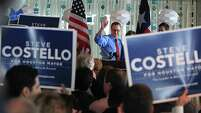 City Councilman Stephen Costello announced his mayoral candidacy before an enthusiastic crowd Monday at the Hilton Americas Houston Hotel.