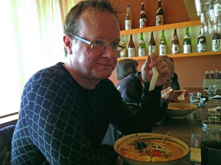 Rice University professor and author Timothy Morton at Kata-Robata Sushi. Photo: Molly Glentzer