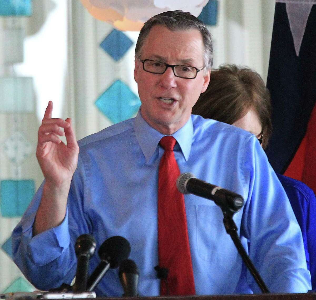 Houston City Councilman Stephen Costello speaks during a press conference formally announcing his mayoral campaign at the Hilton Americas Houston Hotel Monday, March 9, 2015, in Houston.