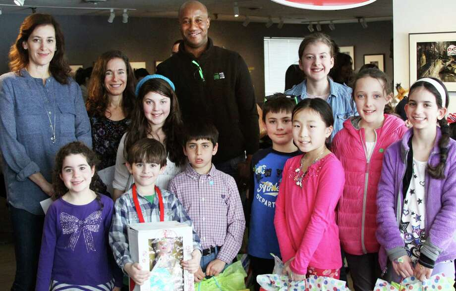 Winners of the 4th annual Toy Makers Competition and judges of the event at the Westport Arts Center. Photo: Contributed Photo / Westport News