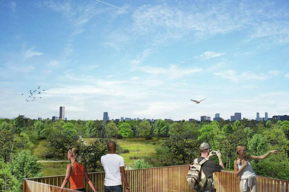 Park visitors will be able to view wildlife from a tower overlooking the Savannah. Photo: Nelson Byrd Woltz