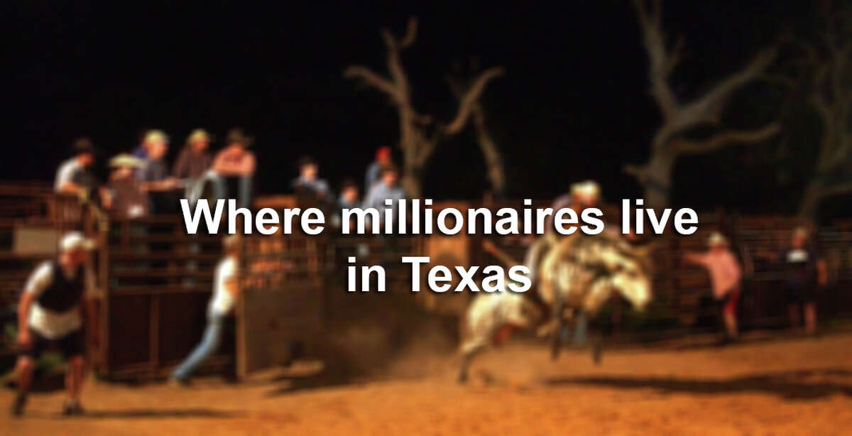 Click through the gallery to see the Texas towns with the most millionaires per capita.