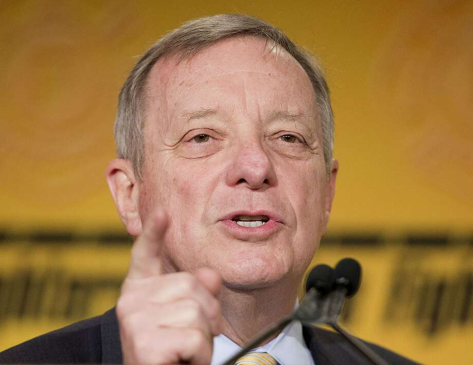 Senate Minority Whip Richard Durbin of Ill. speaks spoke out against the GOP letter to Iranian leaders. Photo: Pablo Martinez Monsivais, Associated Press