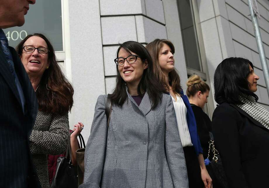 SAN FRANCISCO, CA - MARCH 10:  Ellen Pao (C) leaves the California Superior Court Civic Center Courthouse during a lunch break from her trial on March 10, 2015 in San Francisco, California. Reddit interim CEO Ellen Pao is suing her former employer, Silicon Valley venture capital firm Kleiner Perkins Caulfield and Byers, for $16 million alleging she was sexually harassed by male officials.  (Photo by Justin Sullivan/Getty Images) Photo: Justin Sullivan / Getty Images / 2015 Getty Images