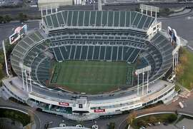 The Raiders are anxious to see the Oakland Coliseum torn down. The cost of a new stadium, the cost of the land for the stadium and the future of the A's stand in the way.