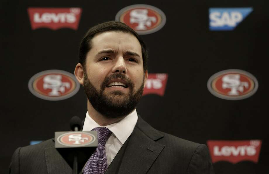 San Francisco 49ers' CEO and owner Jed York comments on the retirement of linebacker Patrick Willis, during a press conference at Levi's Stadium in Santa Clara, Ca. on Tues. March 10, 2015. Photo: Michael Macor, The Chronicle