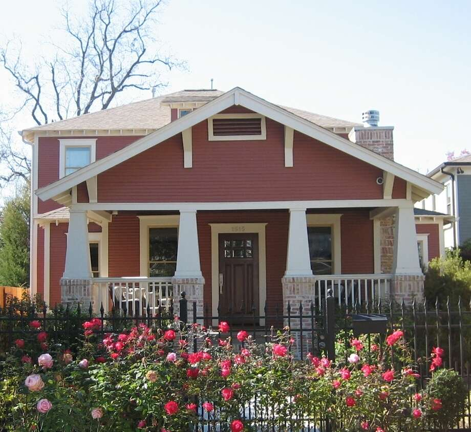 "This restored 1920s-era bungalow at 1615 Columbia, owned by Kim and Jeff Nelson, is on  Houston Heights Association's annual Spring Home & Garden Tour. ""I believe that it's important to demonstrate the preservation of the historic homes and their importance to Houston,"" Kim Nelson says. Photo: Heights Association"