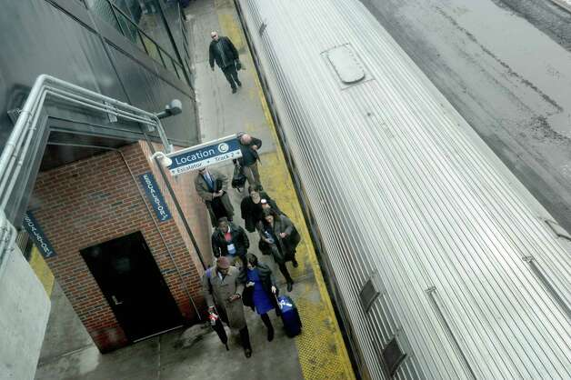 Passengers board a Amtrak train bound for Penn Station at the Albany-Rensselaer Station in Rensselaer, N.Y.  (Michael P. Farrell/Times Union) Photo: Michael P. Farrell / 00030963A