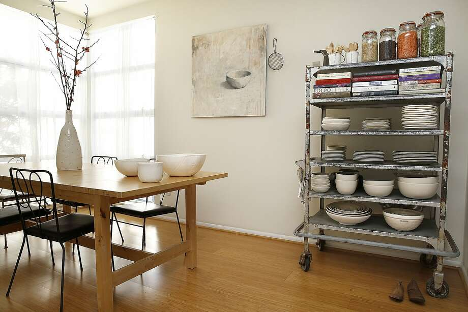 An overview of the dining room seen at the home of illustrator Rae Dunn  in Emeryville, California on Friday, February 13, 2015. Photo: Liz Hafalia, The Chronicle