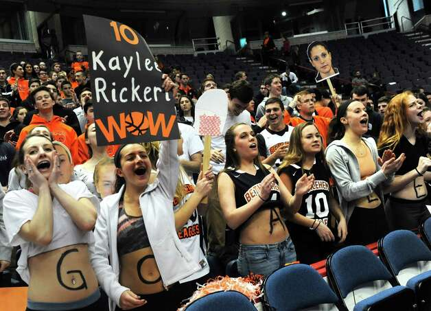 Bethlehem High School students cheer on ther team as they take on Shenendehowa in the Section II Class AA Girls' Basketball Final at the Times Union Center in Albany, N.Y.  (Michael P. Farrell/Times Union) Photo: Michael P. Farrell / 00030948A