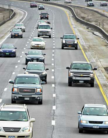 I-87 traffic heads north towards the Riverview Road overpass Tuesday March 10, 2015, in Clifton Park, N.Y.  (John Carl D'Annibale / Times Union) Photo: John Carl D'Annibale / 00030965A