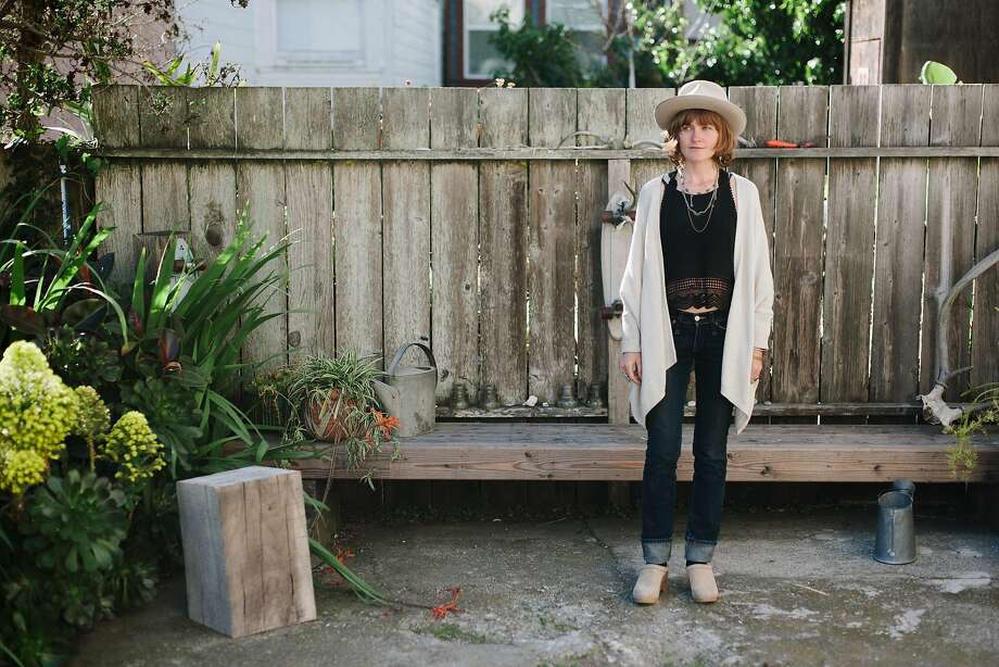 Amber Eckley was photographed in the backyard of Outer Sunset boutique General Store. Photo: William Rittenhouse, Special To The Chronicle