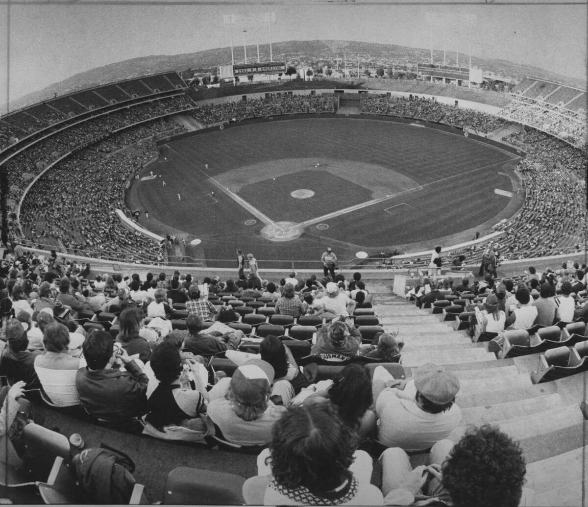 Oakland Athletics game April 1981 at the Oakland Coliseum Photo ran 05/11/1981