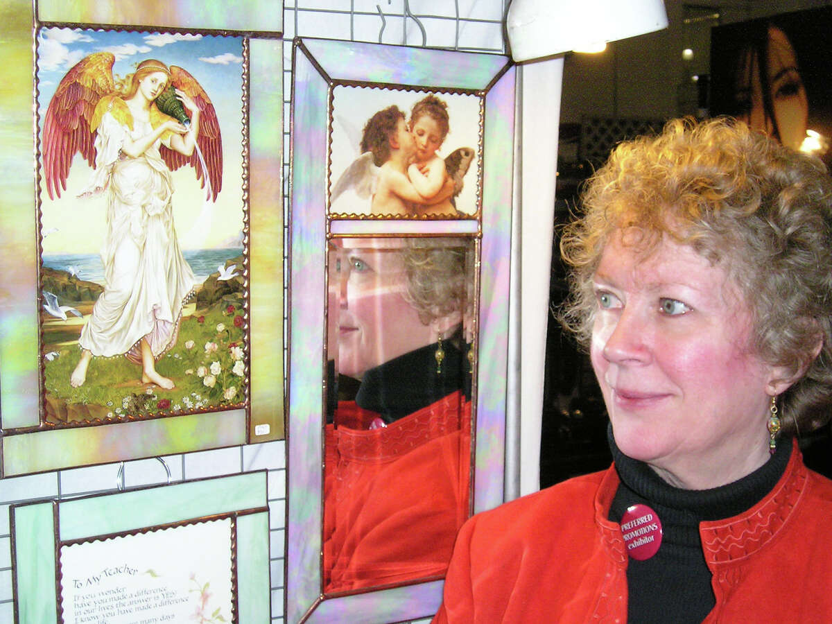 Greenwich stained glass artist Anne Malone is among the Fairfield County artisans selling through Etsy, which filed in early March for an initial public offering of stock.