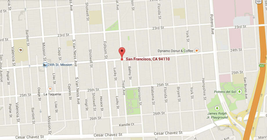 A family was injured during a house fire on 24th Street near Treat Avenue in San Francisco. Photo: Google Maps