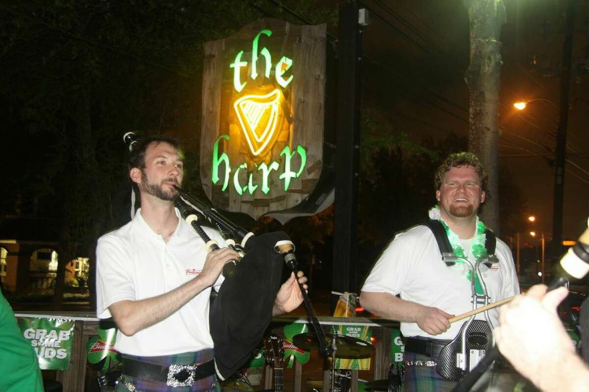 St. Patrick's Day festivities at The HarpWhen: Friday, March 17 at noonWhere: 1625 Richmond Ave.Featuring: Two bands starting at 4:30 p.m. Irish dancers, beads, bagpipes, burgers, grilled Guinness brats and drink specialsInformation: theharphouston.com