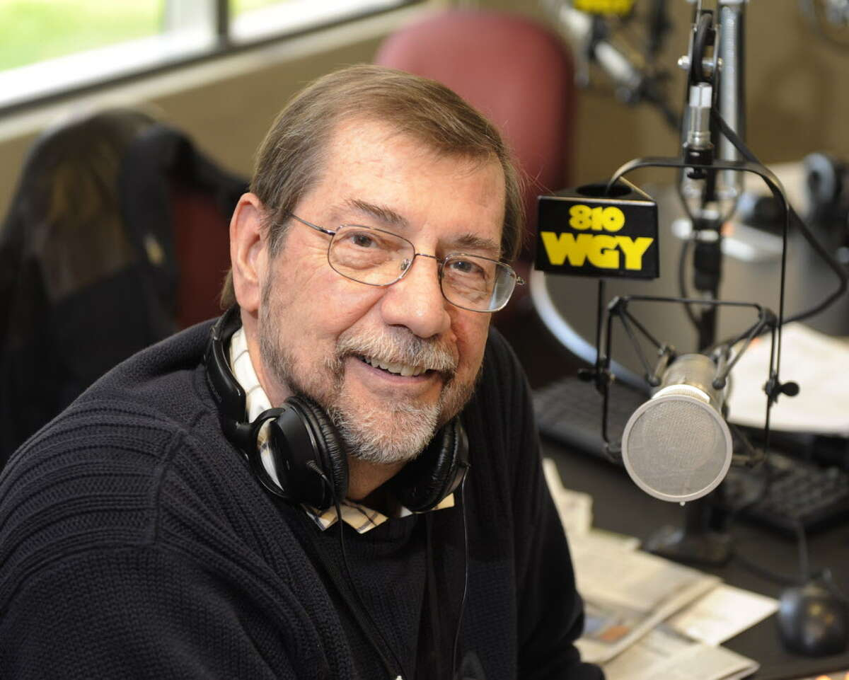 Morning radio personality Don Weeks in his studio at WGY 810 in Latham, New York October 14, 2009. (Skip Dickstein/Times Union)
