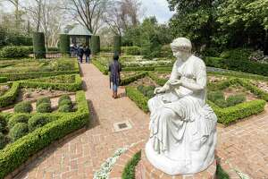The 3-day Azalea Trail kicked off today and thousands visited Bayou Bend Gardens and other Azalea Trail locations to enjoy the sights and weather, Bayou Bend Gardens, 6003 Memorial Drive. ID: Visitors enter and exit though the Clio Garden. Saturday  March 7, 2015 (Craig H. Hartley/For the Chronicle)