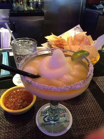 Pappas RestaurantsPappasito's CantinaWhere:Find the nearest area locationhere  Photo: frozen margarita topped with Grand Marnier Photo: Houston Chronicle
